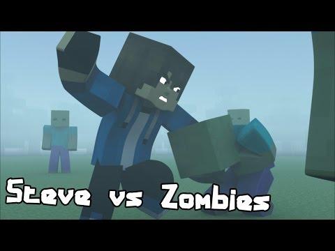 Steve Vs Zombies – Minecraft Fight Animation