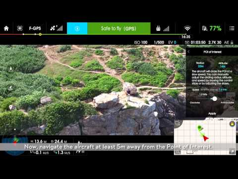 DJI GO – Intelligent Flight Mode: Point of Interest