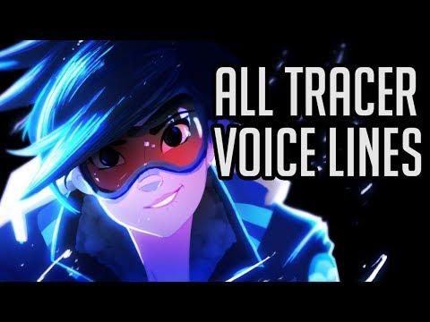 Overwatch- All Tracer Voice Lines So Far (Alphabetized) [As of Doomfist]