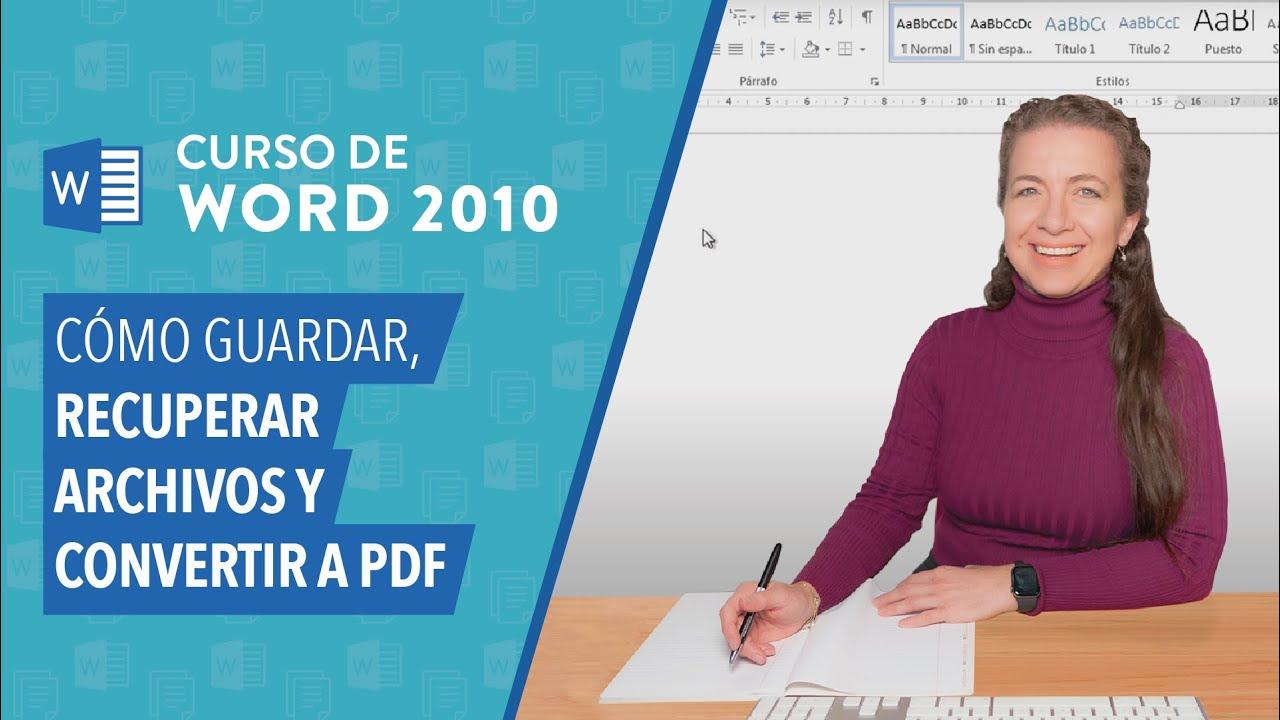 como guardar archivos en pdf desde word 2010