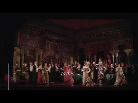Open Curtain Scene Change | La Traviata