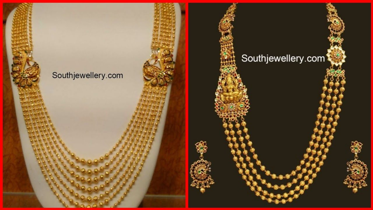 Latest Traditional Long Gold Multilayer Necklace Designs 2020 Exclusive Royal Rani Haar Collection Youtube