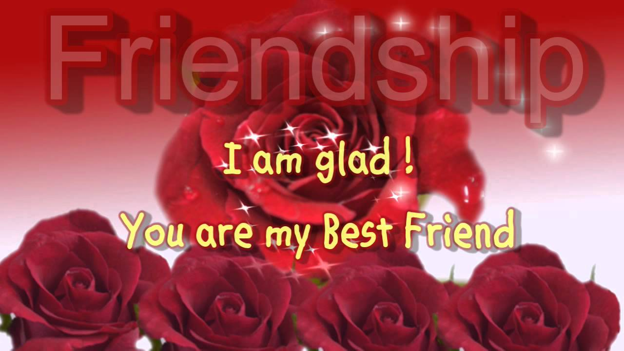 Best Friendship Day Greeting Cards Rose Flowers Greeting Ecard For