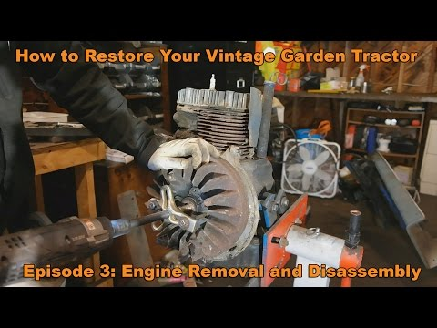 How to Restore Your Vintage Garden Tractor Ep. 3: Kohler K  Engine Removal and disassembly
