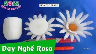 Tỉa rau củ: bài hoa soi nhái - hoa cúc trắng