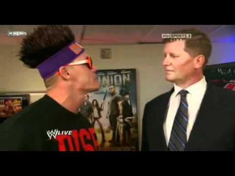 WWE Raw John Cena,Zack Ryder and John Laurinaitis backstage 5-12-11