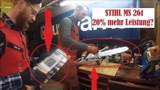20% Leistungsteigerung? - STIHL MS 261 Tuning | Baumpflege Mertens