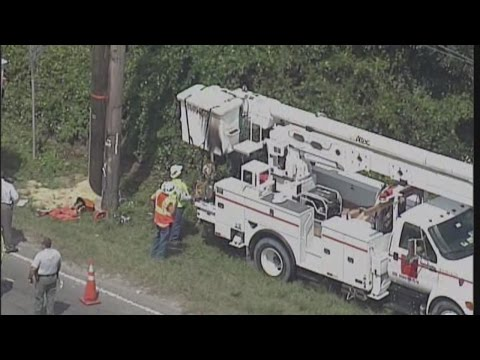RAW VIDEO: Power line worker shocked in Seffner