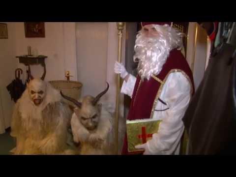 Krampus und Nikolaus Hausbesuch