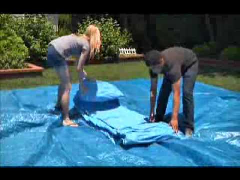 Intex montaje piscinas easy set youtube for Albercas armables intex