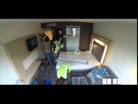time lapse construction d 39 une chambre abidjan plateau novotel youtube