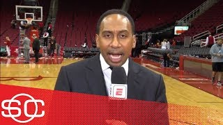 Stephen A: Warriors 'should be worried' after losing big to Rockets in Game 2 | SportsCenter | ESPN thumbnail