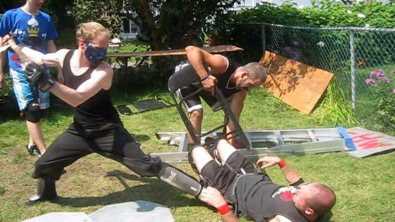 10 man hardcore rumble match 1 contender chw backyard