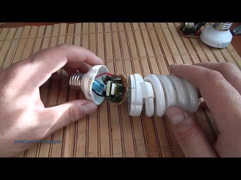 Ремонт энергосберегающей лампы