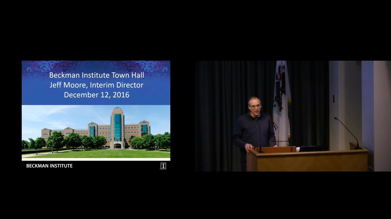 A screenshot from State of the Beckman Institute Town Hall - Dec 12, 2016