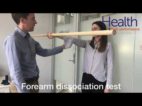 Elbow dissociation test for elbow pain | Melbourne Sports Chiropractor