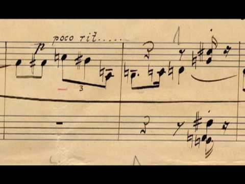 Arnold Schoenberg's  manuscript - Six Little Piano Pieces op. 19 (Andy Lee - piano)