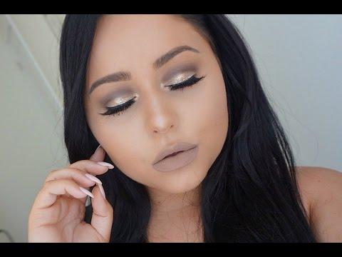 Cool Tone Grey Beige Makeup Tutorial