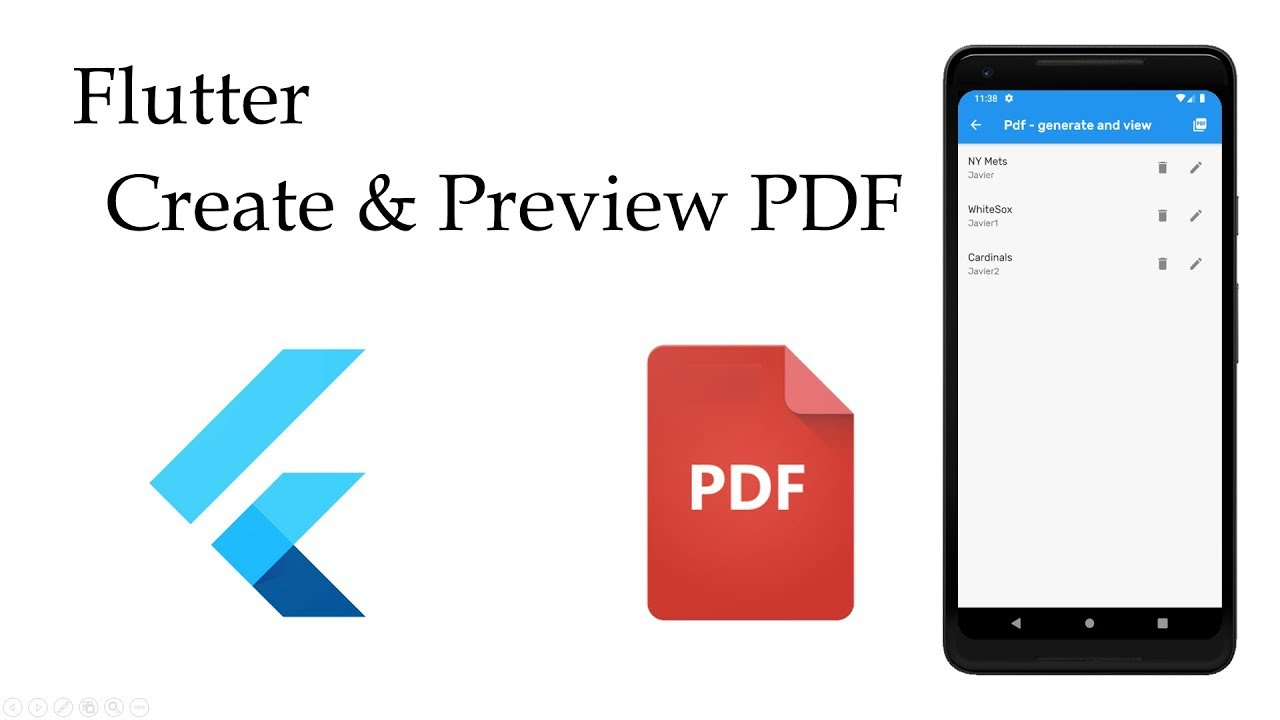 Flutter & PDF (create and preview )