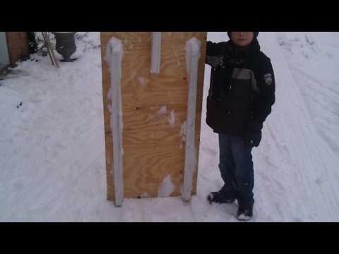 Homemade sled beats plastic one