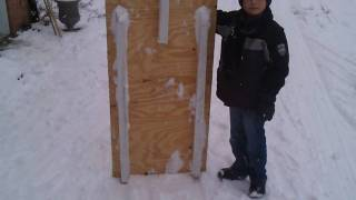 Homemade Sled Beats Plastic One
