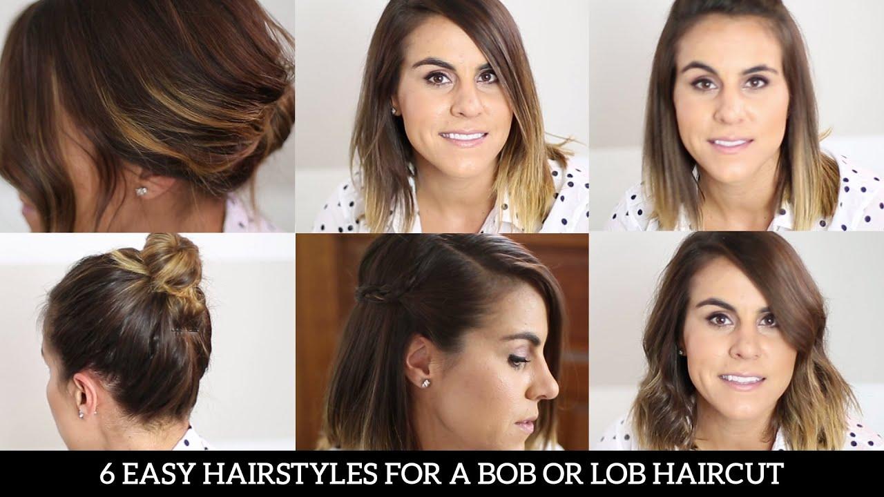 6 easy hairstyles bob