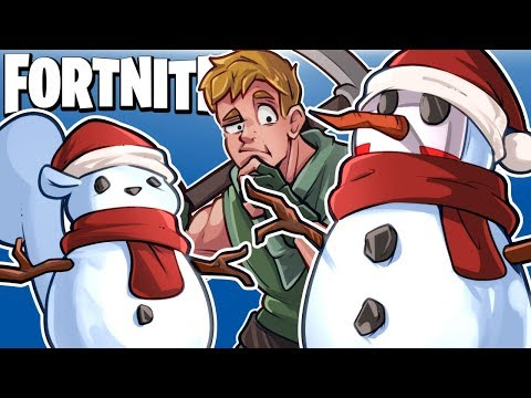 SNEAKY TACTICS AND SNOWMAN GLITCH! (Funny Moments) - Fortnite Battle Royale