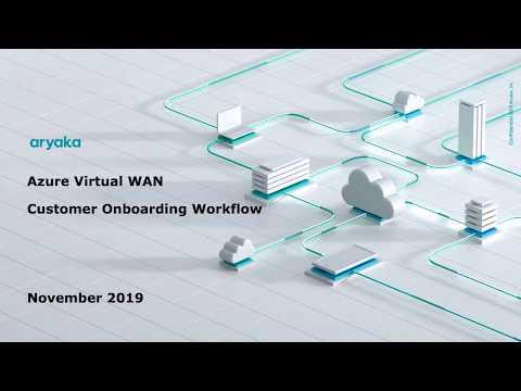 Azure Virtual WAN - Onboarding Workflow