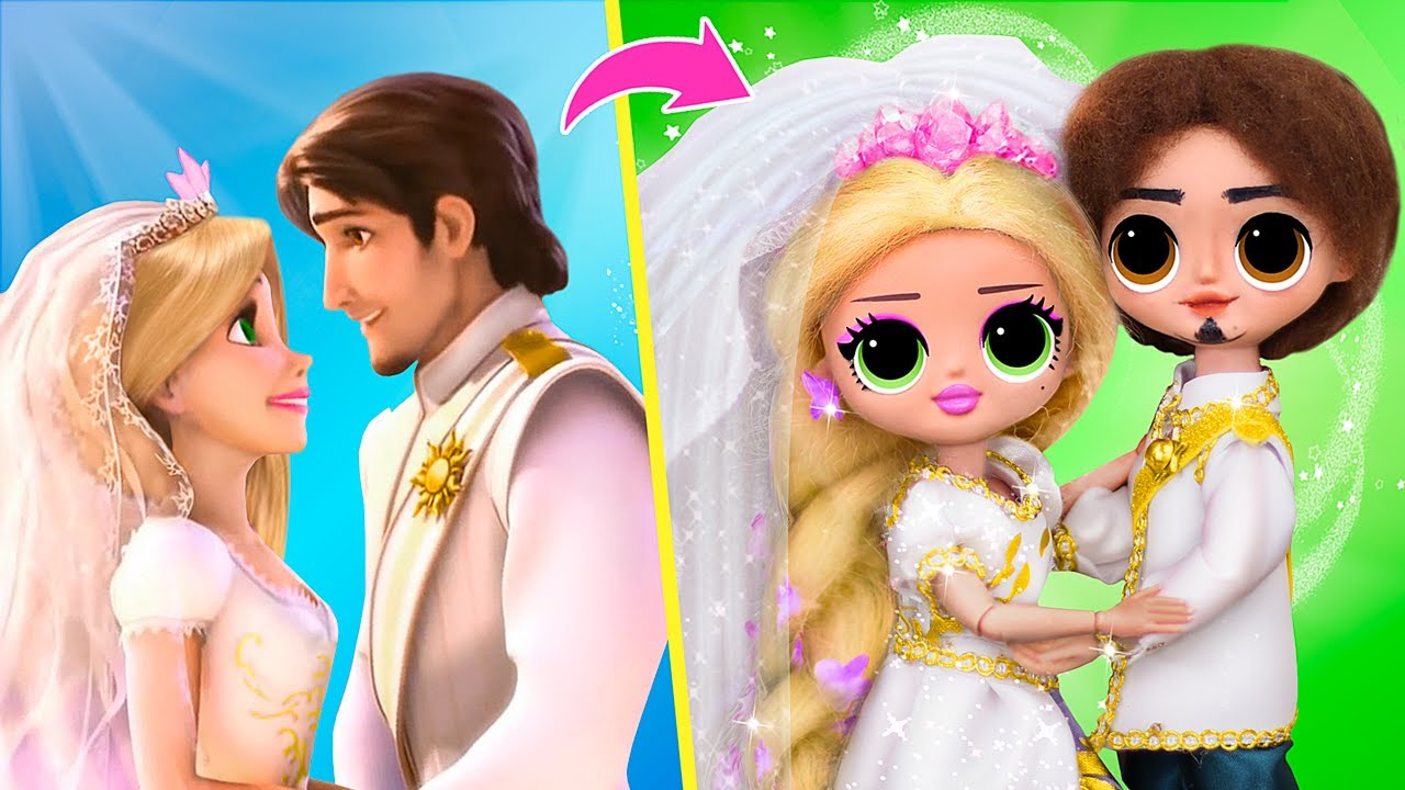 Đám Cưới Của Rapunzel / 12 Mẹo DIY LOL OMG