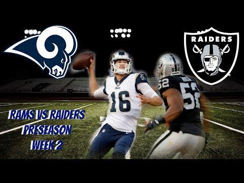 La Rams vs Oakland Raiders Preseason week 2 talk