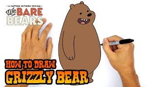 How to Draw Grizzly | We Bare Bears