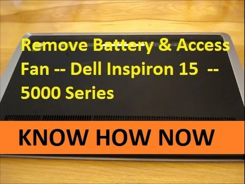 How To Remove Battery Dell Inspiron 15 5000 Series Dell