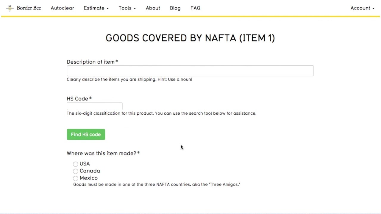 How to complete a NAFTA form - YouTube