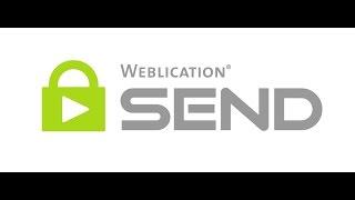 Weblication SEND - Daten und E Mails verschlüsselt senden | Einstellungen