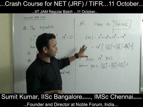 Application of Mean Value Theorem...CSIR NET / IIT  JAM / TIFR / NBHM...