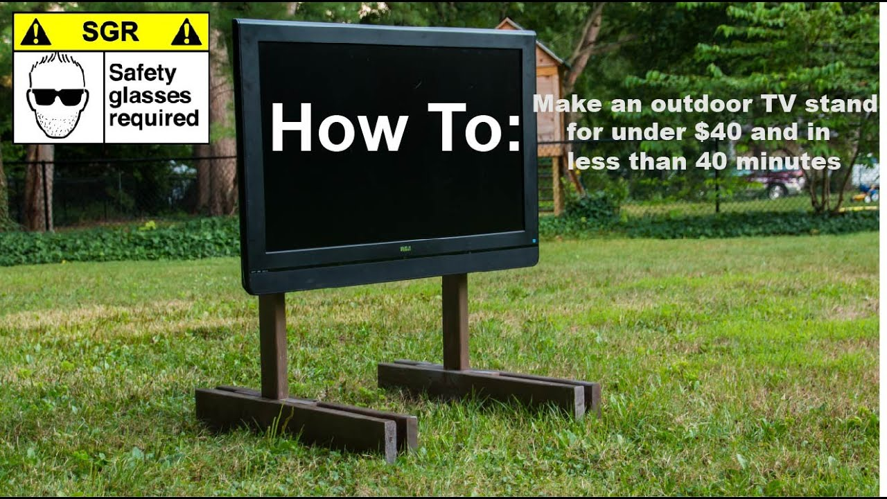 DIY TV Stand - YouTube