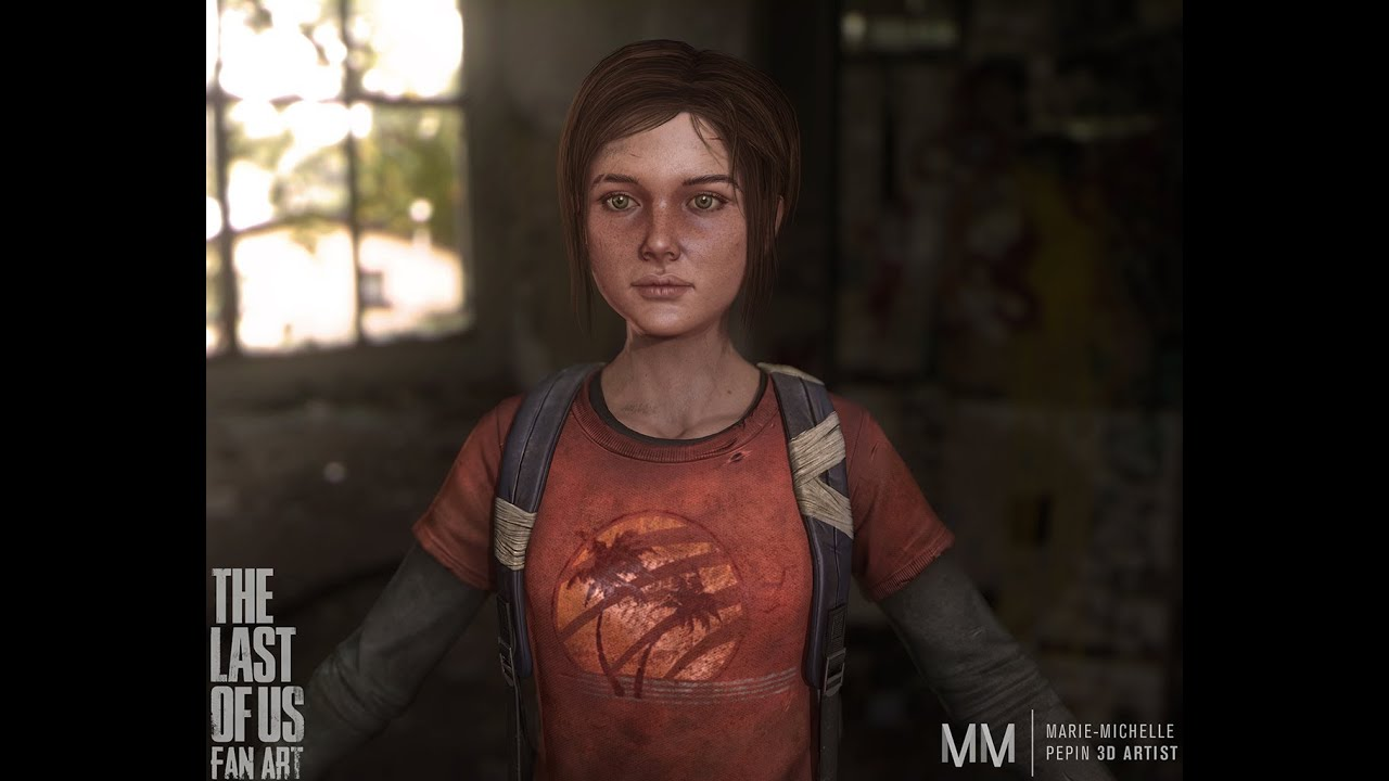 Character Photoshop Texturing Overview Tutorial Ellie Fan Art The Last Of Us Youtube