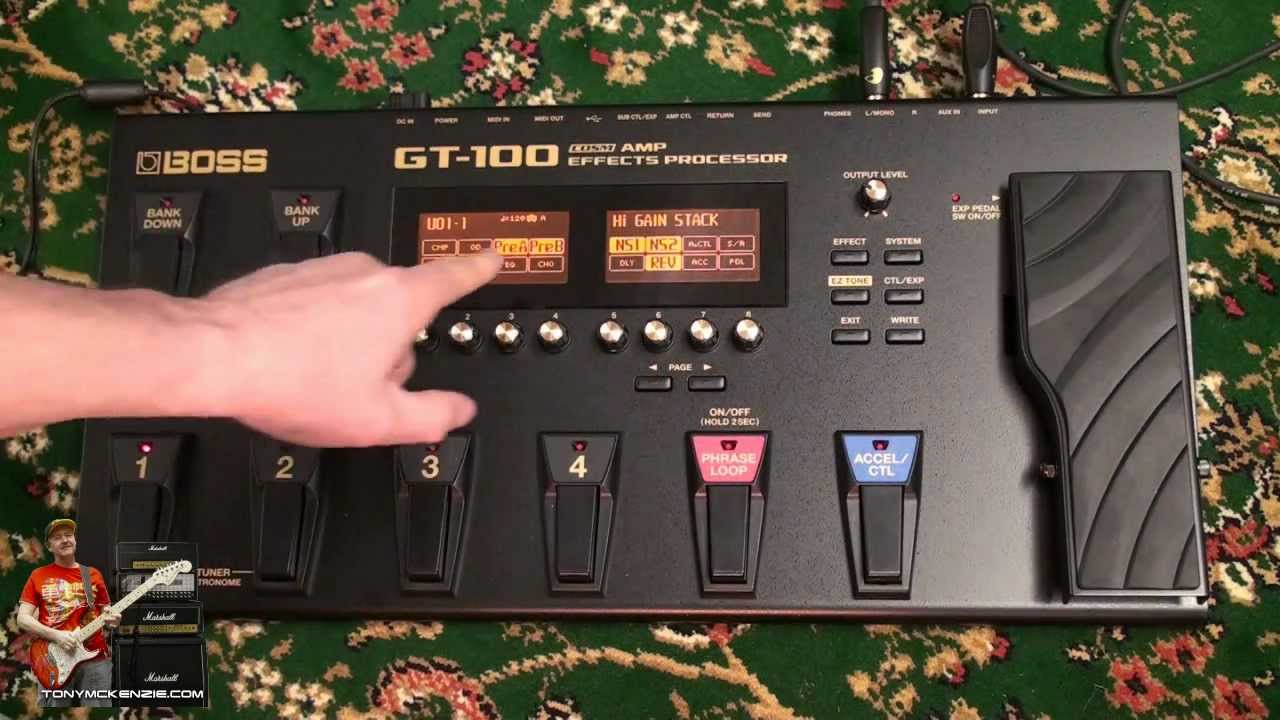 Roland Boss Gt 100 Gt100 Inside And Out Review By