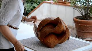 190 - creation d'un espace intime, sculpture en pin Douglas