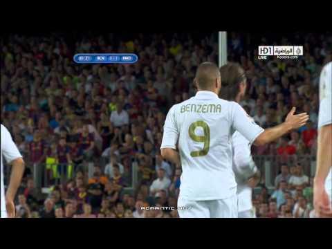 هدف بنزيما على برشلونة اياب كأس السوبر 2011