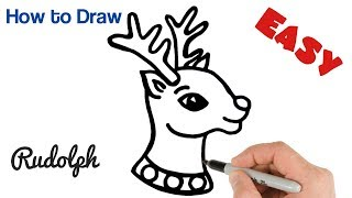 How to Draw Rudolph Santa