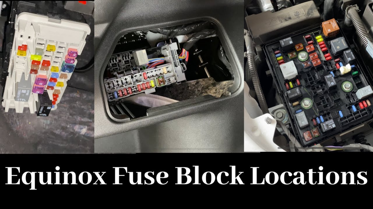2018 - 2020 Chevy Equinox Fuse Block Location | Multiple Panel Locations | Remove, Replace, Change