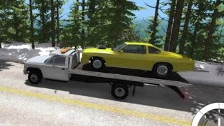 BeamNG.drive Mods - Rollback Tow Truck Hauling Dragster - High Speed Towing