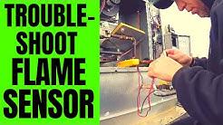 Sacramento Furnace Repair - Flame Sensing Failure - Trane Package Unit