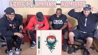 Logic Ft. Eminem - Homicide REACTION/REVIEW