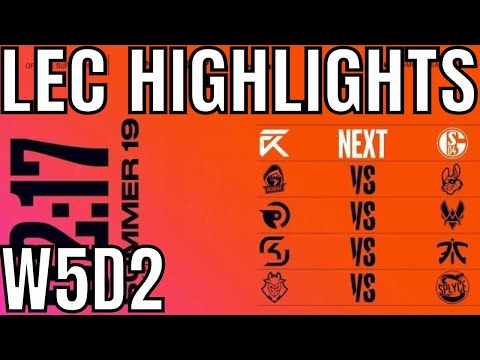 LEC Highlights ALL GAMES Week 5 Day 2 Summer 2019 League of Legends EULCS