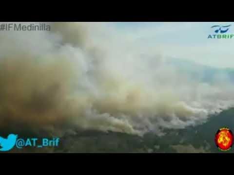 Incendio en los montes de Santibáñez de Béjar y El tejado