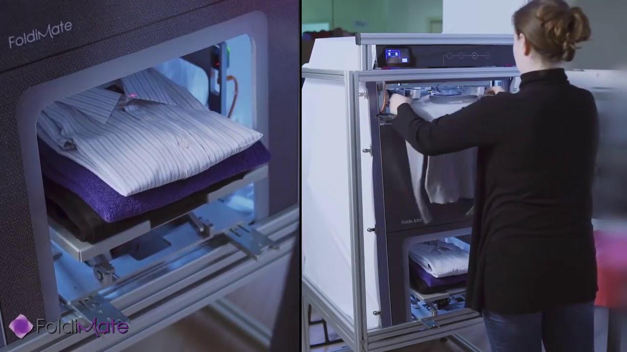 la machine tr s pratique qui repasse et plie le linge en quelques secondes youtube. Black Bedroom Furniture Sets. Home Design Ideas
