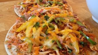 Chicken Fajita Flatbread Pizza Recipe - Myvirginkitchen