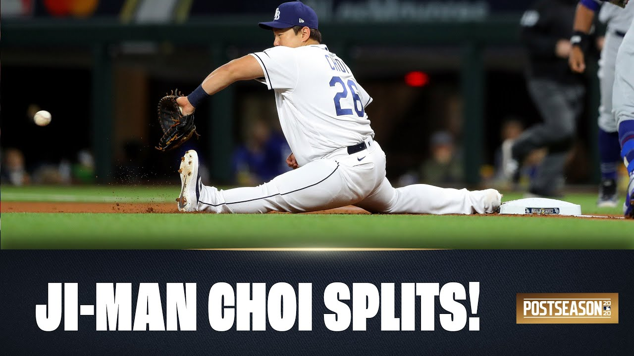 All of Ji-Man Choi's splits from the 2020 Postseason! (Rays 1B is sneaky athletic!)